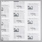 American Metalcraft PPRN1616 16 inch x 16 inch White Newspaper Print Deli Sandwich Wrap Paper - 1000/Pack