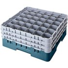 Cambro 36S638414 Teal Camrack Customizable 36 Compartment 6 7/8 inch Glass Rack
