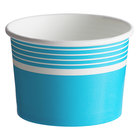 Choice 12 oz. Blue Paper Frozen Yogurt / Food Cup - 50/Pack