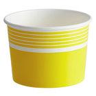 Choice 12 oz. Yellow Paper Frozen Yogurt / Food Cup - 50/Pack