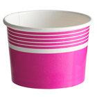 Choice 12 oz. Pink Paper Frozen Yogurt / Food Cup - 50/Pack