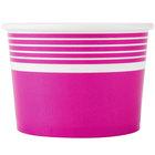 Choice 12 oz. Pink Paper Frozen Yogurt Cup - 50/Pack