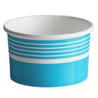 Choice 6 oz. Blue Paper Frozen Yogurt / Food Cup - 50/Pack