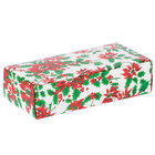 7 1/8 inch x 3 3/8 inch x 1 7/8 inch 1-Piece 1 lb. Poinsettia / Holiday Candy Box   - 250/Case