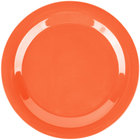 Carlisle 3300252 Sierrus 10 1/2 inch Sunset Orange Narrow Rim Melamine Plate - 12/Case
