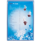 "Menu Solutions H500A DARK BL Hamilton 5 1/2"" x 8 1/2"" Single Panel Two View Blue Menu Board"