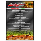 Menu Solutions H500F BLACK Hamilton 10 inch x 14 inch Single Panel Two View Black Menu Board