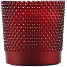 "Sterno Products 60186 Hobnail 3 1/2"" Rouge Flameless Wax Filled Glass Lamp - 4/Case"