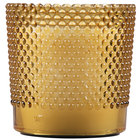 "Sterno Products 60184 Hobnail 3 1/2"" Amber Flameless Wax Filled Glass Lamp - 4/Case"