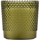 "Sterno Products 60188 Hobnail 3 1/2"" Green Flameless Wax Filled Glass Lamp - 4/Case"