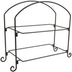 American Metalcraft IS12 Ironworks Two-Tier Rectangular Display Stand