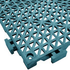 Cactus Mat 2557-TLT Poly-Lok 12 inch x 12 inch Teal Vinyl Interlocking Drainage Floor Tile - 3/4 inch Thick