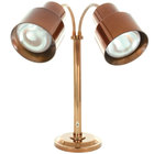 Hanson Heat Lamps DLM/200/ST/SC Smoked Copper Flexible Dual Bulb Freestanding Heat Lamp