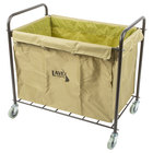 Lavex Laundry Cart / Trash Cart, 12 Bushel Metal and Canvas Cart with Handles
