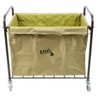 Lavex Lodging Commercial Laundry Cart/Trash Cart with Handles, 12 Bushel Metal Frame and Canvas Bag