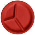 GET CP-10-RSP Red Sensation 10 1/4 inch 3 Compartment Melamine Plate - 12 / Case