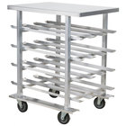 Regency CANRK72AL Half Size Mobile Aluminum Can Rack for #10 and #5 Cans with Aluminum Top