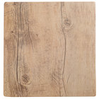 GET SB-1010-OW Granville 10 inch x 10 inch Melamine Faux Oak Wood Display - 6/Case