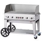 Crown Verity MCB-48WGP Natural Gas 48 inch Mobile Outdoor Grill with Wind Guard Package