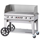 Crown Verity MCB-48WGP Liquid Propane 48 inch Mobile Outdoor Grill with Wind Guard Package