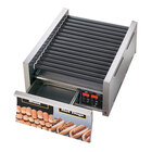 Star 45STBDE 45 Hot Dog Roller Grill with Bun Drawer, Electronic Controls, and StalTek Non-Stick Rollers