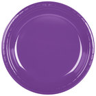 Creative Converting 318919 10 inch Amethyst Purple Plastic Plate - 20/Pack