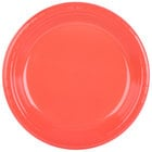 Creative Converting 28314631 10 inch Coral Orange Plastic Plate - 20/Pack