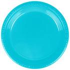 Creative Converting 28103921 9 inch Bermuda Blue Plastic Plate - 20/Pack
