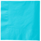Creative Converting 581039B Bermuda Blue 3-Ply 1/4 Fold Luncheon Napkin   - 50/Pack