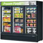 3 Section Glass Door Merchandising Freezers