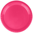 Creative Converting 28177011 7 inch Hot Magenta Pink Plastic Plate - 20/Pack