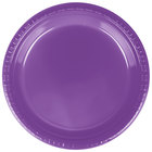 Creative Converting 318917 9 inch Amethyst Purple Plastic Plate - 20/Pack