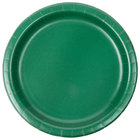 Creative Converting 793124B 7 inch Hunter Green Paper Plate - 24/Pack
