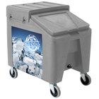 Gray Ice Caddy II 140 lb. Mobile Ice Bin / Beverage Merchandiser