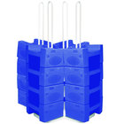 Koala Kare KB120LG-04 W/STRAP Large Booster Buddy Stand with 25 Blue Plastic Booster Seats and Straps