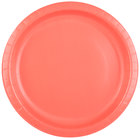 Creative Converting 503146B 10 inch Coral Orange Round Paper Plate - 24/Pack