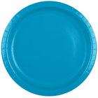 Creative Converting 503131B 10 inch Turquoise Blue Paper Plate - 24/Pack