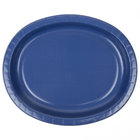 Creative Converting 433278 12 inch x 10 inch Navy Blue Oval Paper Platter - 96/Case
