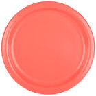 Creative Converting 473146B 9 inch Coral Orange Round Paper Plate - 24/Pack