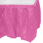Creative Converting 011345 14' x 29 inch Candy Pink Plastic Table Skirt