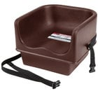 Cambro 100BCS Brown Single Seat Booster Chair with Strap