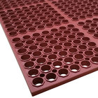 Cactus Mat 3520-R3 VIP Floormate 29 inch x 39 inch Red Heavy-Duty Grease-Resistant Rubber Anti-Fatigue Floor Mat - 7/8 inch Thick