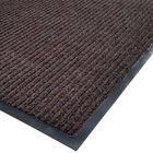 Cactus Mat 1485M-B31 3' x 10' Brown Needle Rib Carpet Mat - 3/8