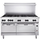 Vulcan 60SS-10BN Endurance 10 Burner 60 inch Natural Gas Range with Standard Oven Base - 358,000 BTU