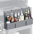 Cambro 730SR191 Granite Gray 7-Bottle CamBar Speed Rail