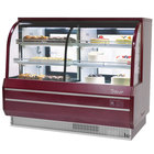 Turbo Air TCGB-72-CO Red 72 inch Curved Glass Dual Dry / Refrigerated Bakery Display Case - 22.2 Cu. Ft.