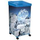 IRP 32 Qt. Blue Micro Mobile Merchandiser / Cooler with LED Light - 16 inch x 16 inch x 32 inch