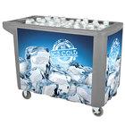 IRP 280 Qt. Gray Merchandiser / Cooler Push Cart - 53 inch x 30 inch x 39 inch