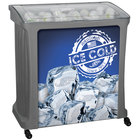 88 Qt. Gray Avalanche Platinum Mobile Merchandiser / Cooler with LED Light - 30 inch x 18 inch x 32 inch