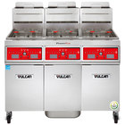 Vulcan 3VK65CF-1 PowerFry5 Natural Gas 195-210 lb. 3 Unit Floor Fryer System with Computer Controls and KleenScreen Filtration - 240,000 BTU